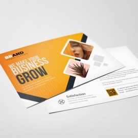 Creative Modern PostCard With Orange Accent