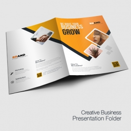 Creative Modern Presentation Folder With Orange Accent