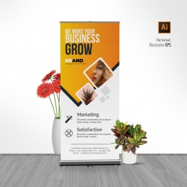 Creative Modern Rollup Banner  With Orange Accent