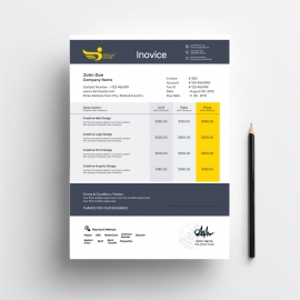 Creative Orange Invoice