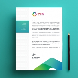 Creative Paste Letterhead With Black Accent