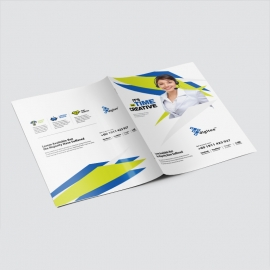 Creative Presentation Folder With Blue And Accent