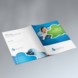 Creative Presentation Folder With Blue Green Accent