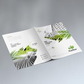 Creative Presentation Folder With Brush Style