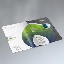 Creative Presentation Folder With Green Black