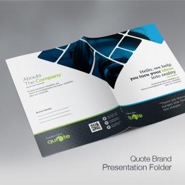 Creative Quote Brand Presentation Folder