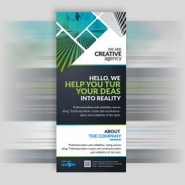 Creative Quote Brand Rollup Banner