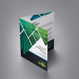 Creative Quote Brand Squre Trifold Brochure