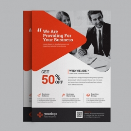Creative Red Business Flyer