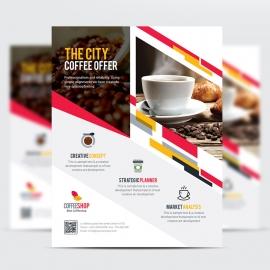Creative Shape Elements Business Flyer
