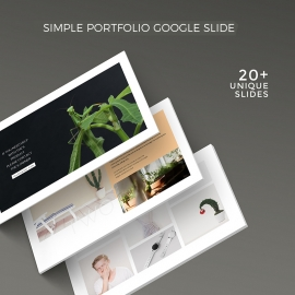 Creative Simple Portfolio Google Slide Template