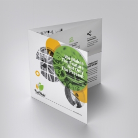 Creative Square TriFold Brochure With Cricle