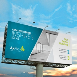 Creative Style Billboard Banner With Blue Accent
