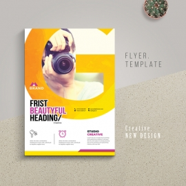 Creative Styles Flyer With Yellow Accent