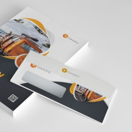 Creative Travel Commercial Envelope Template