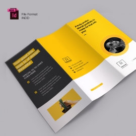 Creative Trifold Brochure  With Yellow Accent