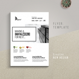 Creative White Flyer With Boxs