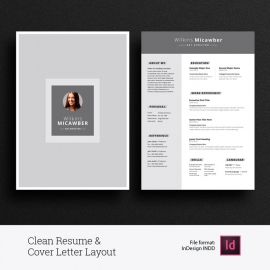 Creatives Resume & Cover Letter Layout