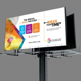 Cubers Billboard Banner With Colorful Concepts