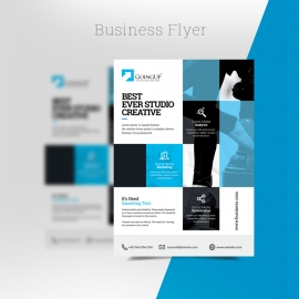 Cyan Accent Business Flyer