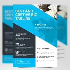 Cyan Accent Modern Business Flyer