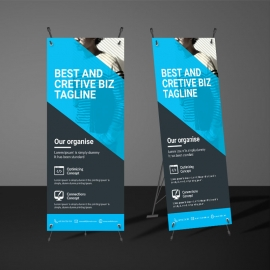 Cyan  Accent Rollup Banner Template