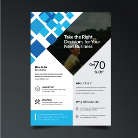 Cyan Accent Simple Business Flyer