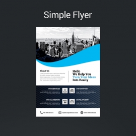 Cyan Accent Simple Flyer Template