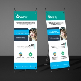 Cyan And Paste Accent Rollup Banner