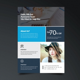 Cyan Business Creative Flyer Template