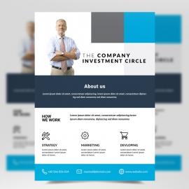 Cyan Business Creative Flyer Template