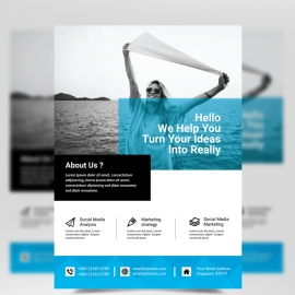 Cyan Business Flyer
