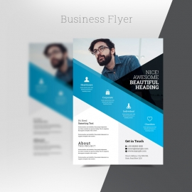 Cyan Business Flyer