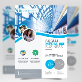Cyan Business Flyer Template