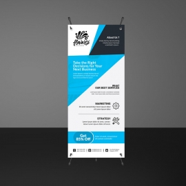 Cyan Corporate Rollup Banner
