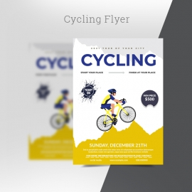 Cycling Racing Championships Sports Flyer