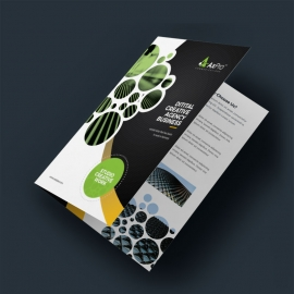 Dark And Light BiFold Brochure With Cricle