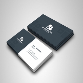 Dark And Light Business Card Template