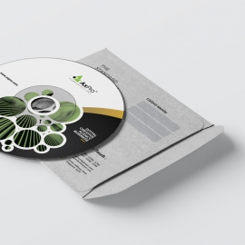 Dark Green Business CD Pack With Cricle