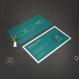 Dark Minimal Creative Business Card