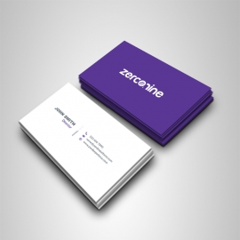 Deep Purple Accent Business Card