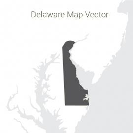 Delaware  Map Dark Vector Design