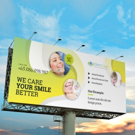Dental Care Billboard Sinage With Circles Abstract