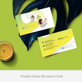 Dental Care Business Card With Circles Abstract