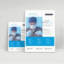 Dental Care Clinic Dentist Service Flyer