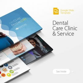 Dental Care Clinic Dentist Service Google Slide Template