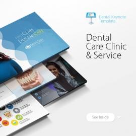 Dental Care Clinic Dentist Service Keynote Template