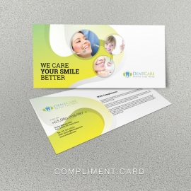 Dental Care Compliment Card With Circles Abstract