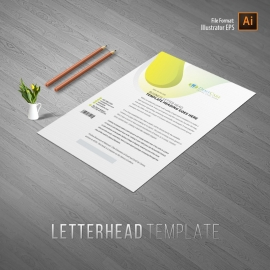 Dental Care Letterhead With Circles Abstract
