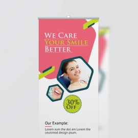 Dental Care Rollup Banner